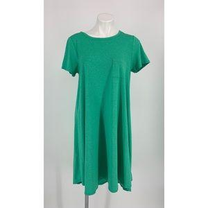 LulaRoe NWOT Short Sleeve Green Dress Size Medium